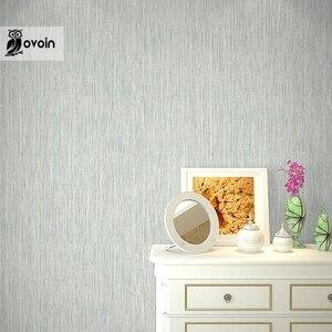 Image 5 - Однотонные соломенные обои с тесьмой, рельефная настенная Бумага Из искусственной соломы для отеля, столовой, цвета: бежевый, серый, рулон 10 м