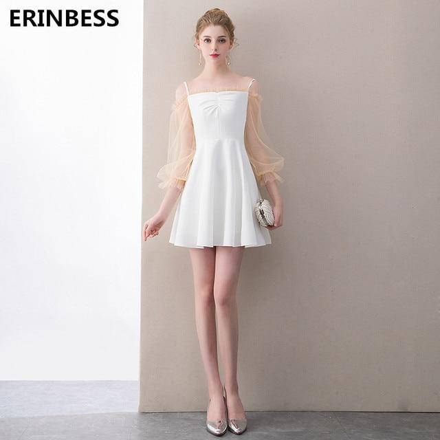 1e0135b51c Vintage Mini corto vestidos De baile 2019 Vestido De fiesta Sexy cariño  blanco baile De graduación