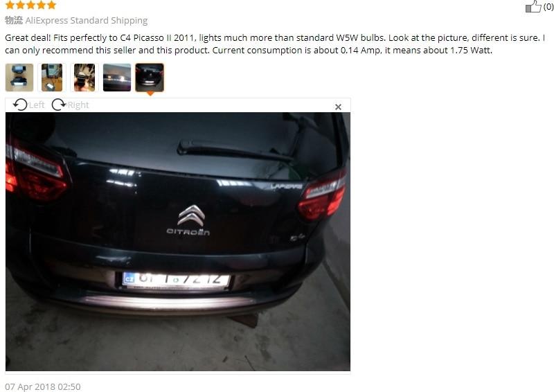 Penggantian auto belakang plat nomor cahaya Untuk Citroen C2 3D / C3 - Lampu mobil - Foto 6
