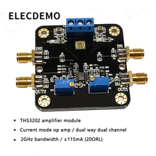 THS3202 Current Operational Amplifier Module 2GHz Bandwidth Dual Op amp Current Amplifier function demo board 100pcs lot new op07 op07cp dip8 operational amplifier