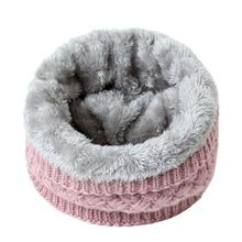 Зимний теплый шарф для женщин трикотажные шейные шарфы кольца плюшевые детские мужские кольцо-Ошейник женский фуляр шейный платок