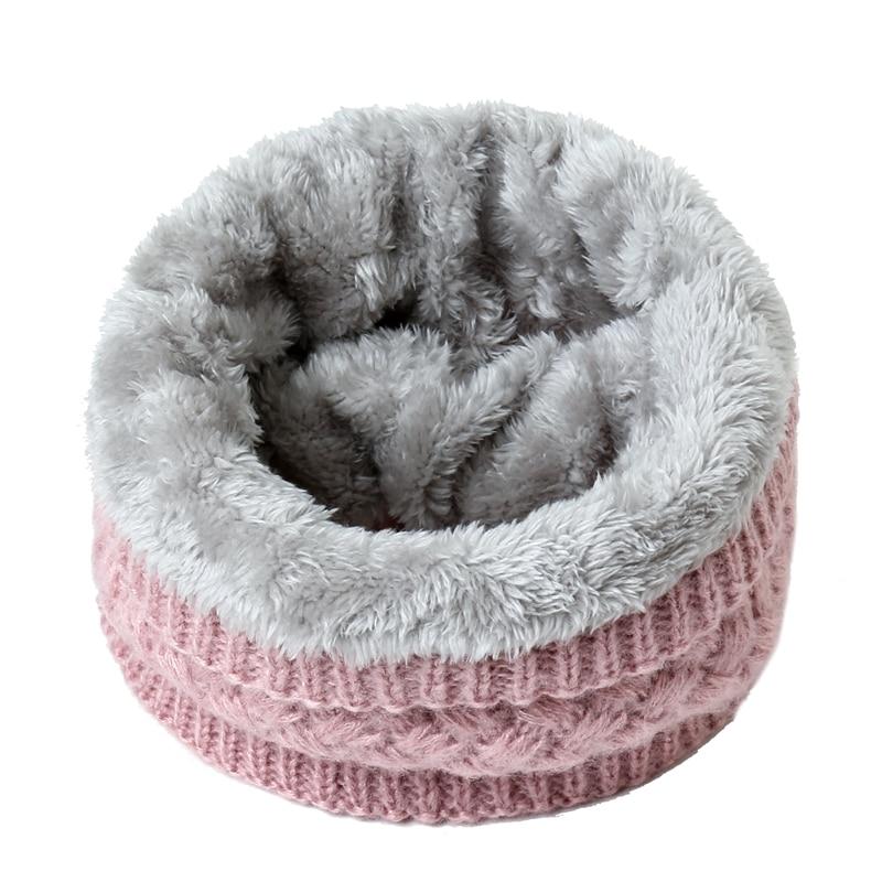 2019 Winter Warm Scarf For Women Knitted Neck Scarves Rings Plush Children Men's Collar Ring Female Foulard Neckerchief