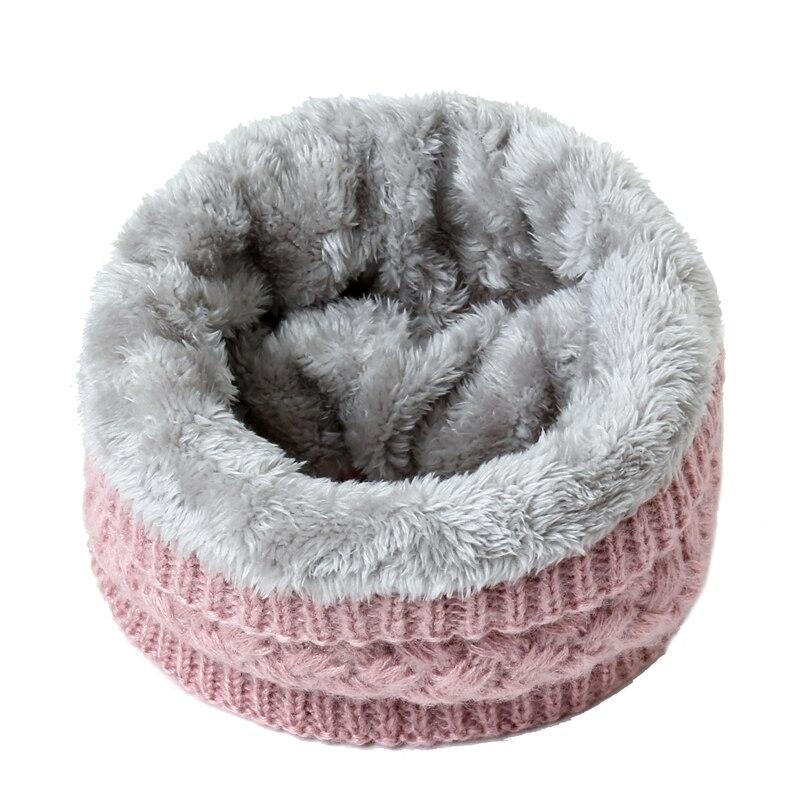 2020 Winter Warm Scarf For Women Knitted Neck Scarves Rings Plush Children Men's Collar Ring Female Foulard Neckerchief