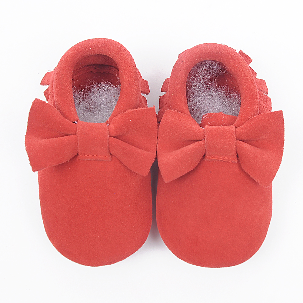 Suede First Walkers Genuine Leather Baby shoes Toddler Baby moccasins Soft Bottom Newborn shoes