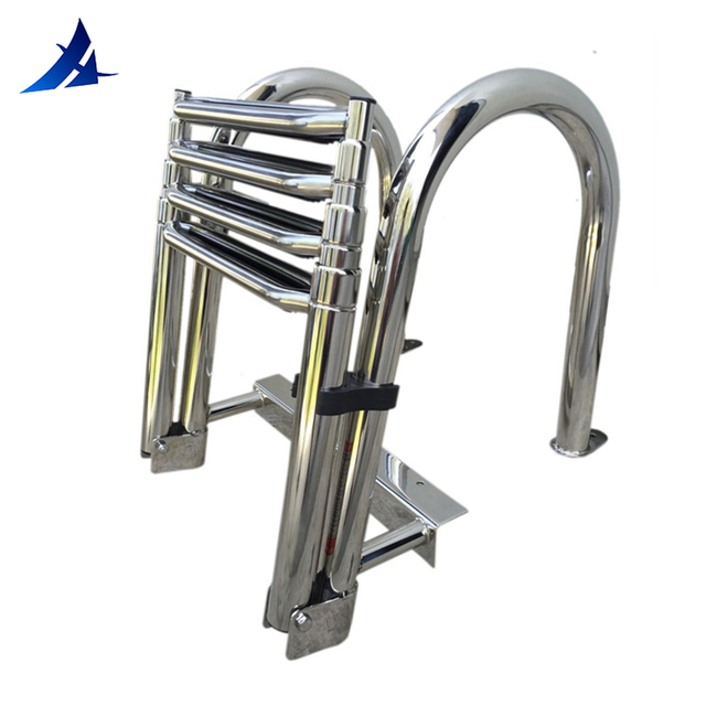US $158 42 11% OFF|Aliexpress com : Buy Boat Accessories Marine 4 Step  Telescoping Boat Ladder Stainless Steel Inboard Rail Dock Siwmming Ladder  from