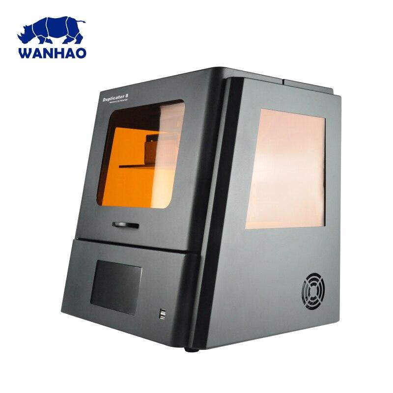 2018 WANHAO крупнейших дешевые DLP ЖК-дисплей SLA ювелирная смола зубные 3D-принтеры D8 с сенсорным экраном и бесплатная доставка стоимость
