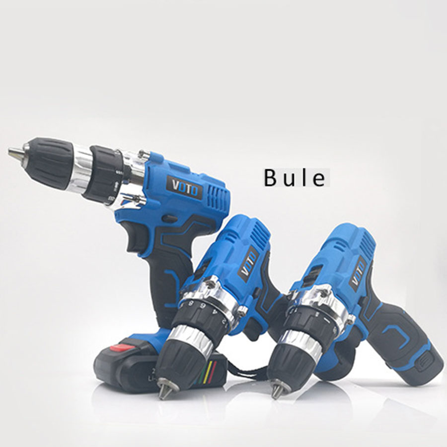 VOTO V6 Battery Rechargeable Cordless Drill Electric Screwdriver Set Lithium Power Tools Screw Gun Driver 12V 16.8V 21V Blue lomvum 12v 16 8v 21v cordless rechargeable lithium battery electric screwdriver mini drill kit furadeira screw gun longyun