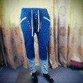 Nuevo robin jeans para hombre pantalones tiro caído los hombres denim jeans harem hip hop baggy pantalon pantalones stretch mb17110