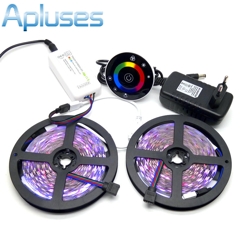 LED zolaq dəsti 10M SMD 5050 RGB + Simsiz RF toxunma nəzarətçisi - LED işıqlandırma - Fotoqrafiya 1