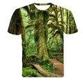 2015 Del Nuevo Diseñador Del Verano 3D Imprimió la Camiseta Los hombres de Manga Corta Camiseta Hombres Camiseta m-4XL Creativa bosque