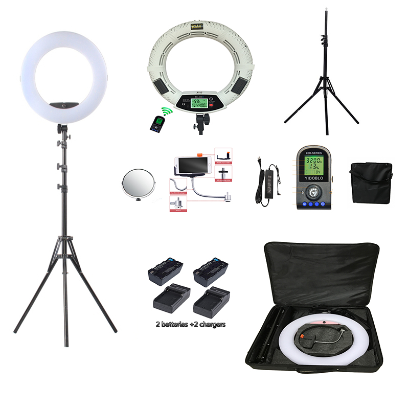 Yidoblo FE 480II Bio color Ring Lamp 480 LED Lamp Photography Beauty salon nail Makeup selfie