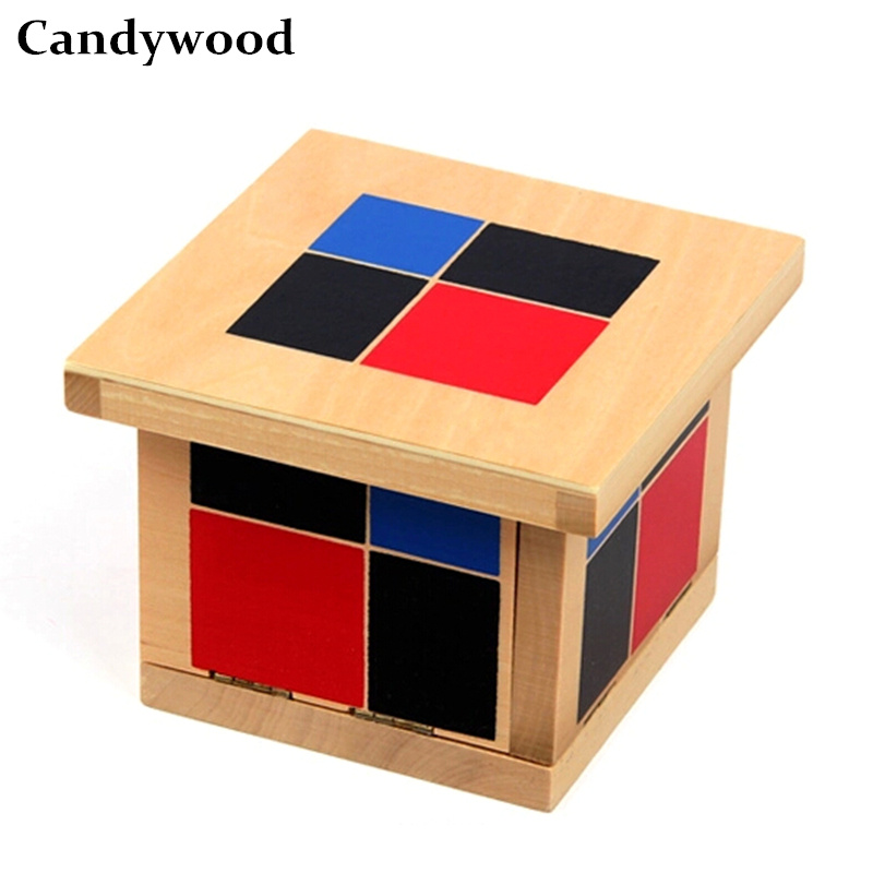 Candywood Montessori Materials Algebraic Binomial Cube Early Educational Math Toy Kids Education Toys Adult intelligence game цена