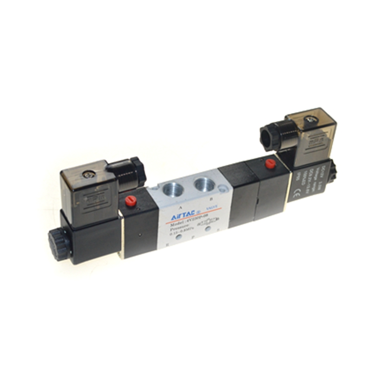 4V230-08P 5Ports 3Position Dual Solenoid Pneumatic Air Valve 1/4 BSPT 1pcs 4v430c 15 ac110v 5ports 3position dual solenoid pneumatic air valve 1 2 bspt brand new