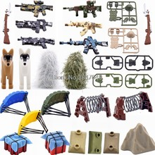 Xin-Yue Blocks Military MOC Weapon Bag Guns Dogs Parachute Building Blocks Toys For Children with Military SWAT Toys(China)