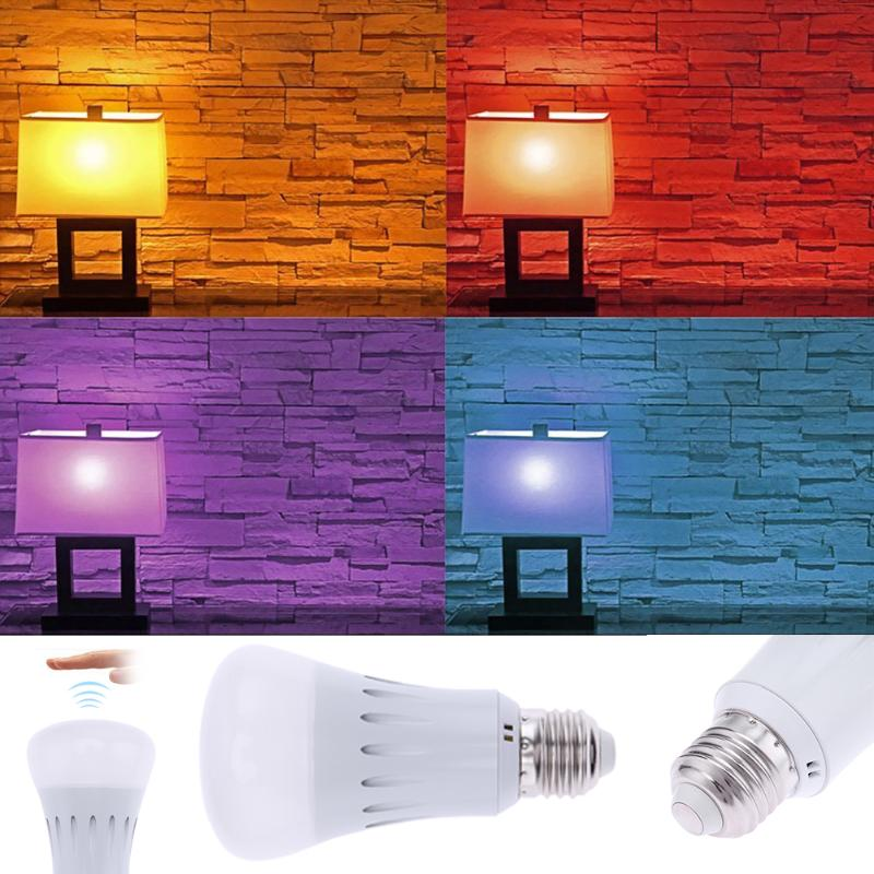 LED Bulb E27 RGB Smart LED Light Color Change Dimmable by APP Remote Control LED Lamp Bulbs color change remote control led animal shape night light