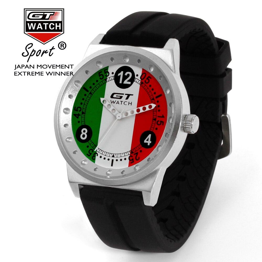 Gt relógio masculino itália bandeira f1 esporte relógio dos homens relógios de marca de luxo relógio masculino reloj hombre erkek kol saati relogio