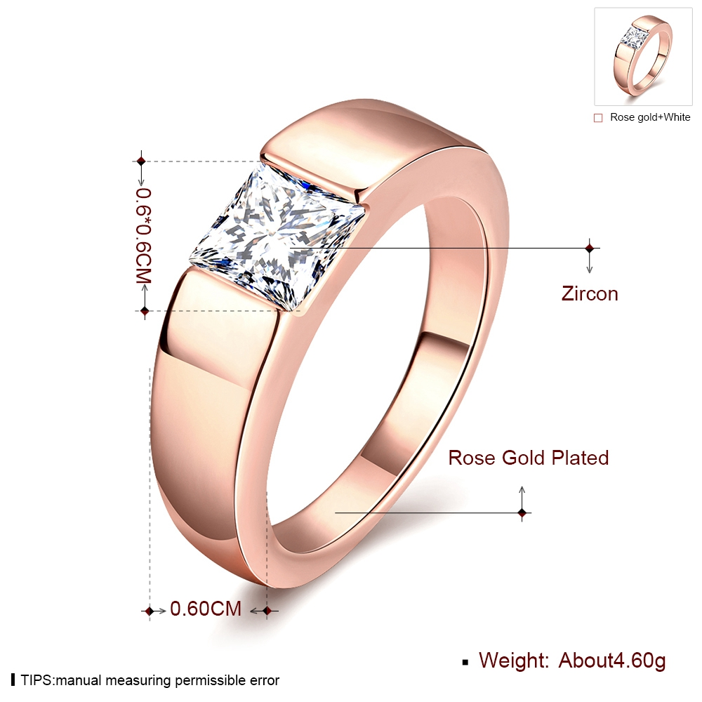 MEGREZEN Engagement Ring Stone Men Cubic Zirconia Wedding Ring Mens