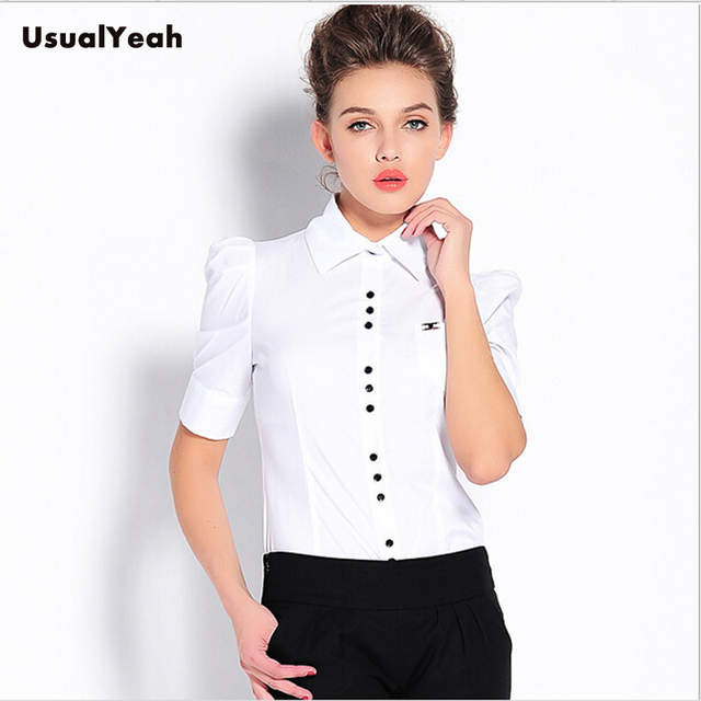 4fae1bc0e804 Мода 2015! Женская рубашка с коротким рукавом, рубашка-боди, дамские блузки  SY0151, ...