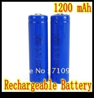 Free Shipping 6PCS / Lot best  Price  14500 Battery 1200mAh 3.7V Protected Battery  For Camera Torch Flashlight  TOY