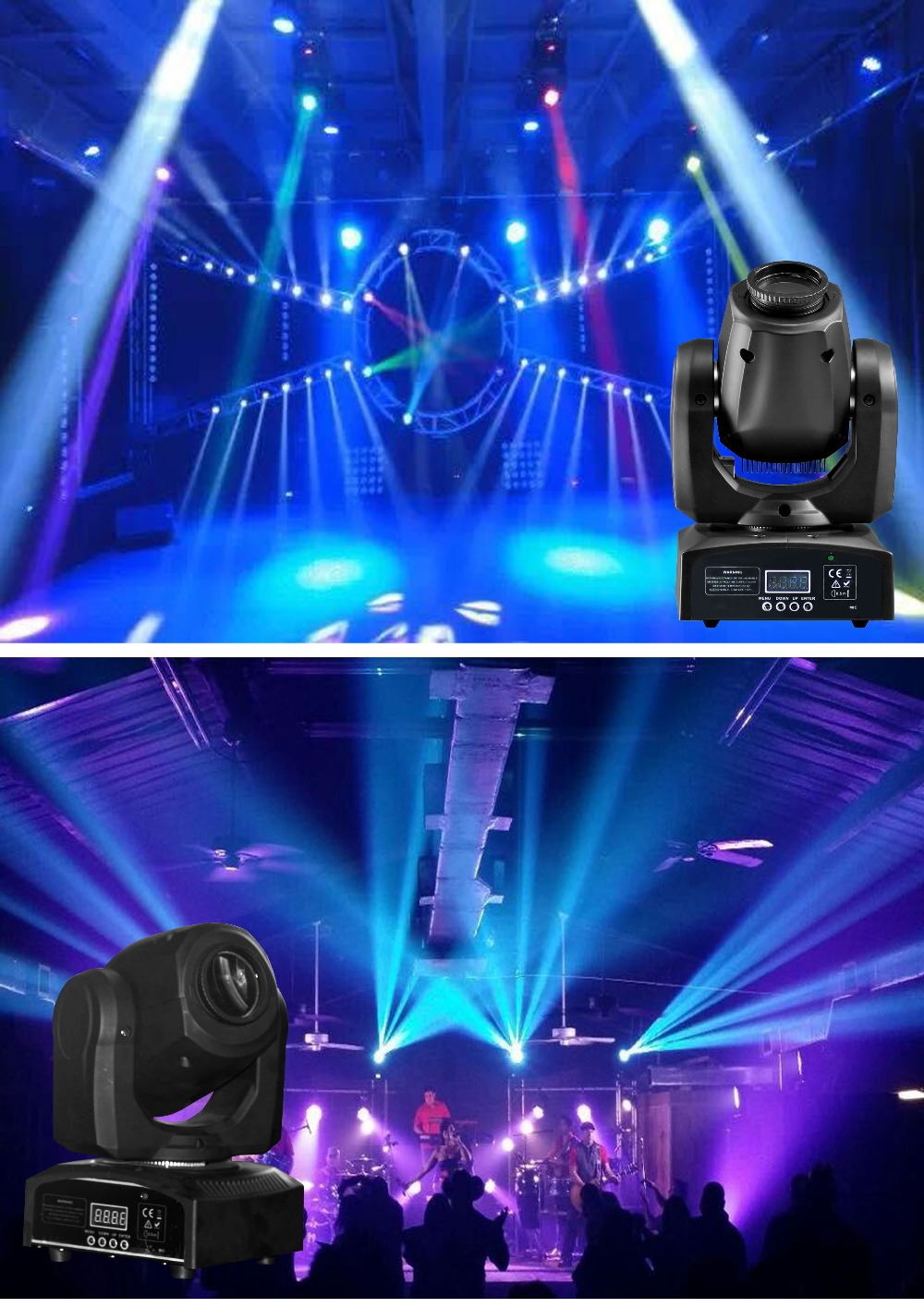 10X LOT Hot Sale Rasha Inno Pocet Spot 10W Mini LED Moving Head Spot Light,LED Moving Head Gobo Light For Event Party цена