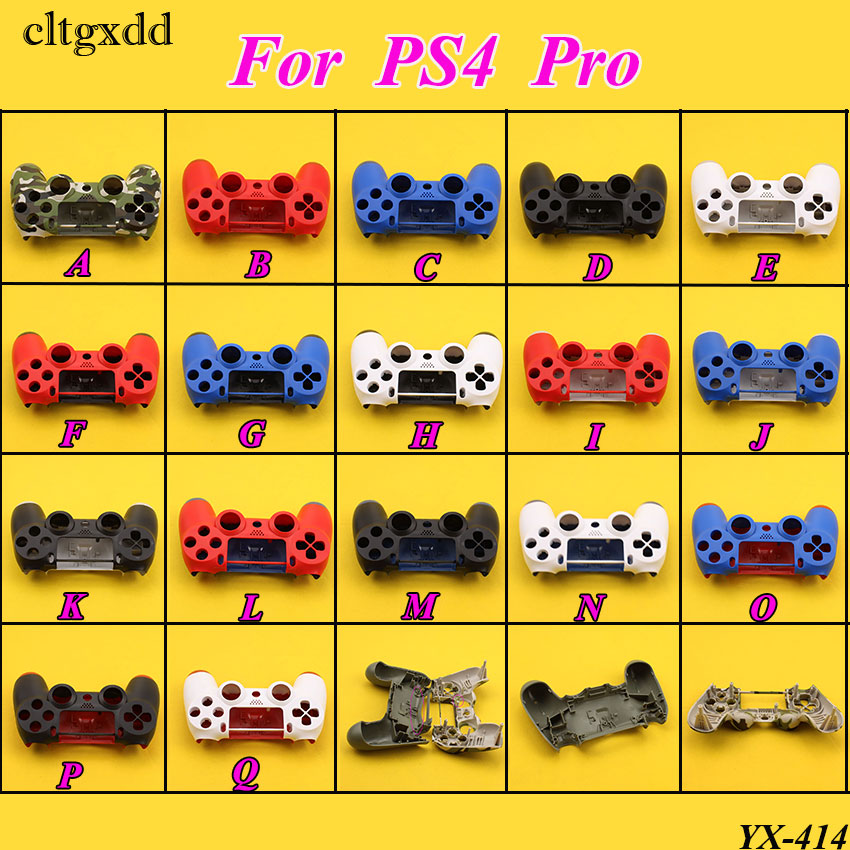 cltgxdd Front Back Hard Plastic Upper Housing Shell Case Cover For Playstation 4 Pro For PS4 Pro Dualshock 4 Pro Controller shining rhinestone piano pattern plastic back case for iphone 4 4s silver