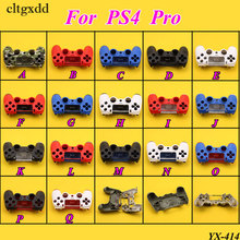 cltgxdd Front Back Hard Plastic Upper Housing Shell Case Cover For Playstation 4 Pro PS4 Dualshock Controller