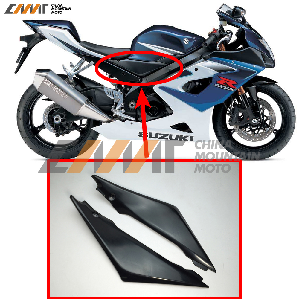 2 x Carbon Fiber Tank Side Covers Panels Fairing For GSXR 600 750 2006 2007 K6 GSX-R Tank Side Cover Panel