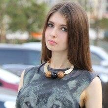 2018 Sale Chrysocolla Round New Arrival Pendant Kolye Choker Colar Feminino Jewelry Women Collares Mujer Statement Necklace