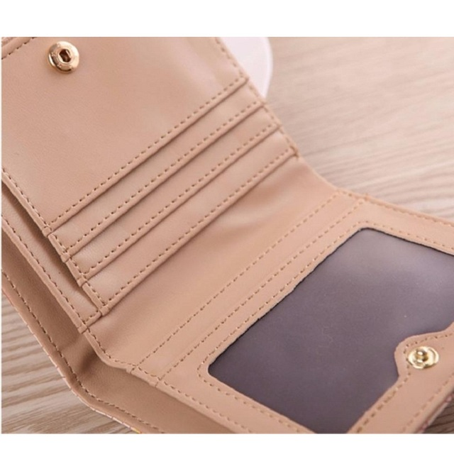 Naivety 2016 New Women Vintage Giraffe Pattern Short Wallet Purse Portable Clutch Monedero 11S60927 drop shipping 2