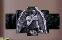 5 Piece Canvas Art Printing HD Angel posters Painting Custom Print On Wall Pictures Home Decoration