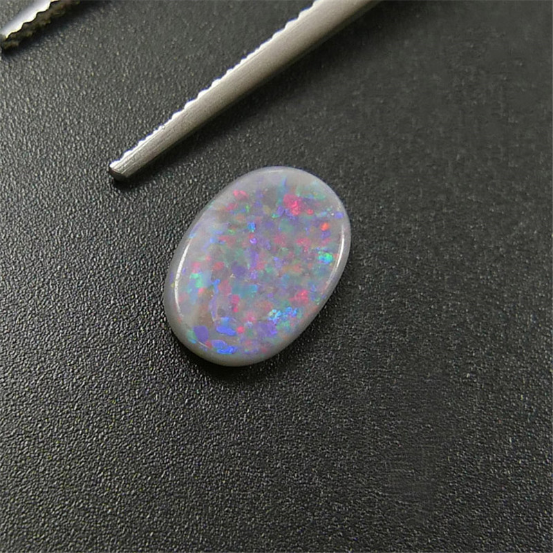1,34 Carat Natürliche Australien Rot Grün Blau Farbe Ändern Schwarz Opal Losen Stein 5a Starke Spielzügen Farbe