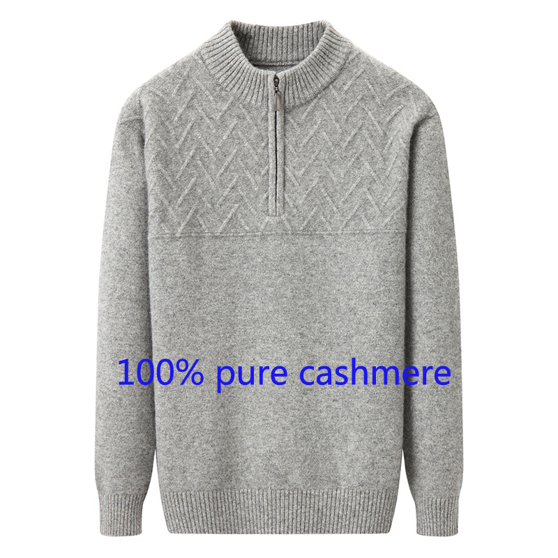 100% Wahr 2019 Neue Ankunft Mode Kaschmir Pullover Herbst Winter Männer Dicke Große Lose Gestrickte Zipper O-ansatz Beiläufiges Plus Größe S-3xl4xl5xl