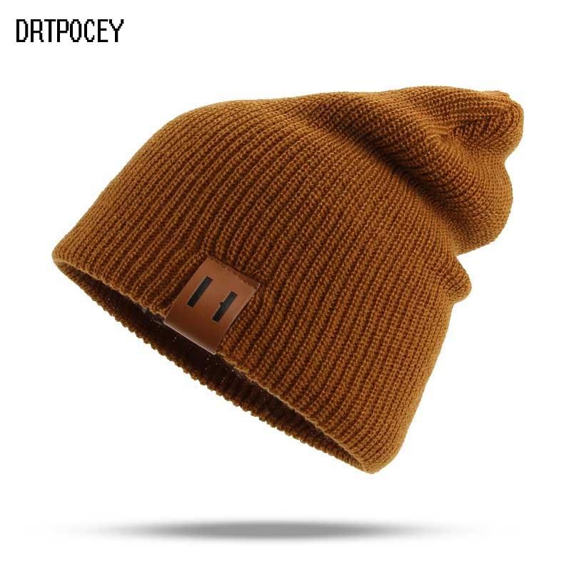 Autumn Winter Men's Women Beanie Knit Hats Fashion Casual Hip-Hop Warm Unisex Casual Ski Hat Female Soft Baggy Skullies Beanies