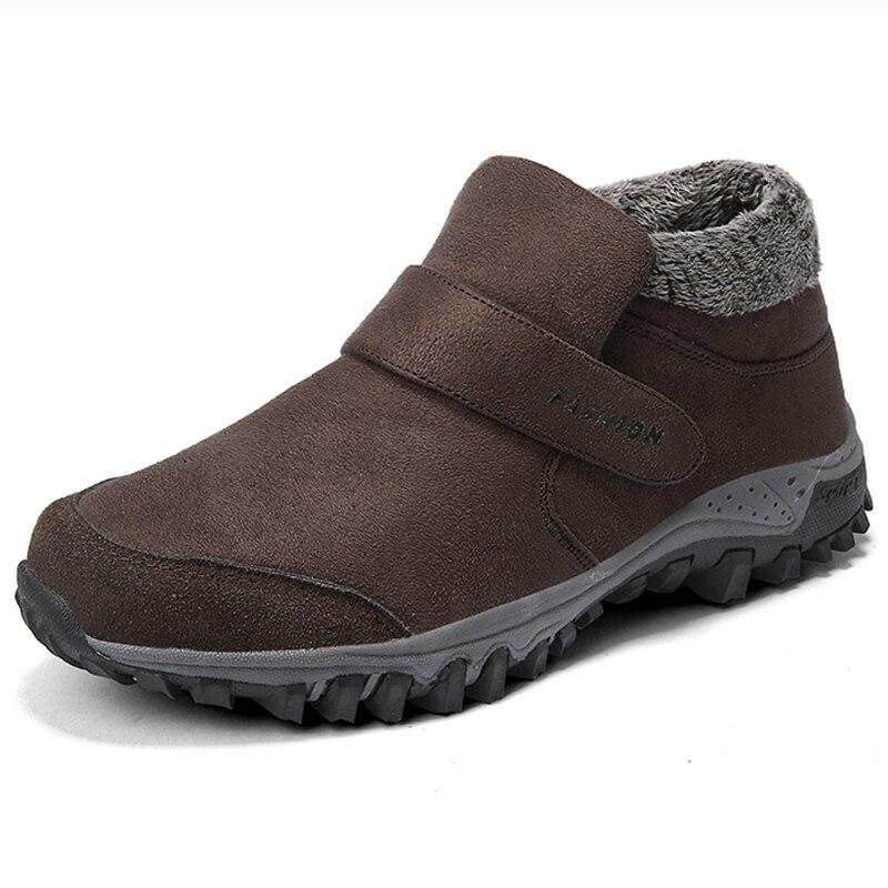 9a81d9bbd ... Homens Camurça De Couro Sapatos de Inverno Homens Tênis Sneakers  Tornozelo Inverno Botas Quentes Masculinos Trabalhar Botas Hombre Casuais  Barato Online ...