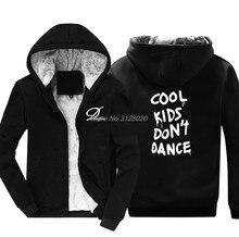 Los niños frescos no bailan impresión algodón Hoodies hombres de algodón  grueso sudaderas Hip Hop masculino 4f071f9eb8a