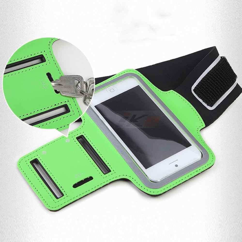 Luxo ao ar livre correndo faixa de pesca para o iphone 5 5S 5g se couro caso cinto cinta de pulso ginásio braços do telefone móvel capa