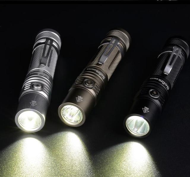 Sofirn SP32A V2.0 LED CREE XPL2 Mạnh 1300lm Đèn Pin Đèn EDC Đèn Pin 18650 với DTP PCB Chỉ Báo Nguồn Điện Ramping