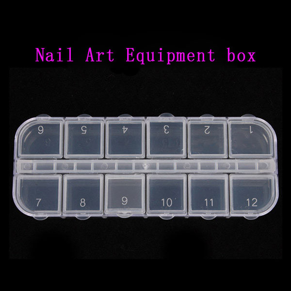Nail Art Decorations Storage Box Gems Glitter Empty Rectangle Rhinestones Beads Slices Compartments Container Case 10g box clear nail caviar micro beads 3d glitter mini beans tiny tips decorations diy nail art rhinestones manicure accessories