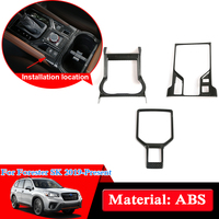 Car Styling ABS Chrome Gear Panel Sequins For Subaru Forester SK 2019 Present Gear Box Panel Cover Sequin Internal Car Stickers