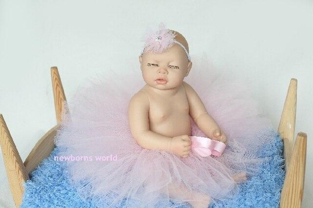 light pink headband+tutu skirt set,newborn infant Baby photography props Pink Tutu- Girls Tutu- Baby - fits to 0-24 Months