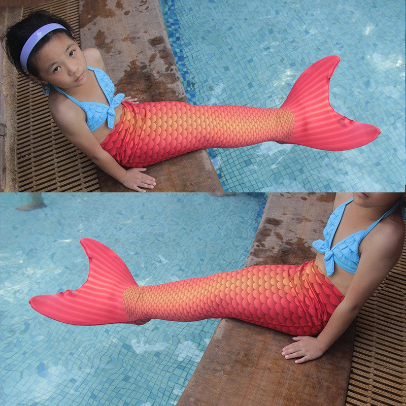 Christmas-Gift-Fairy-baby-girl-kids-Mermaid-Tail-Funny-with-Monofin-for-Swimming-Swimmable-Swimwear-Cosplay (3)