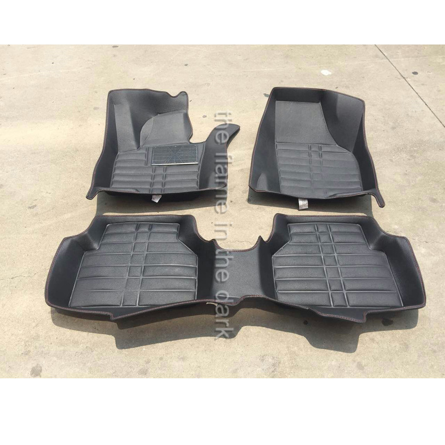 Rubber floor mats vw passat - Free Shipping Fiber Leather Car Floor Mat Carpet For Volkswagen Vw Tiguan 2007 2008 2009 2010 2011 2012 2013 2014 2015 2016