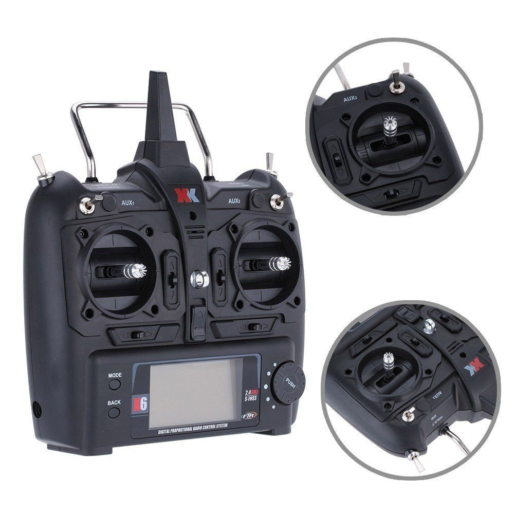 Original XK X6-001 2.4GHz 6CH Transmitter for XK K100 K110 K123 K124 RC Helicopter Drone original xk dhc 2 a600 2 4ghz 6ch transmitter for xk a600 a700 a430 rc airplane drone