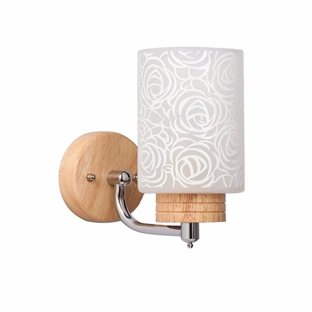 Wood Wall Lamp Up Down Light Outdoor E27 Modern Sconce Bedroom Bedside