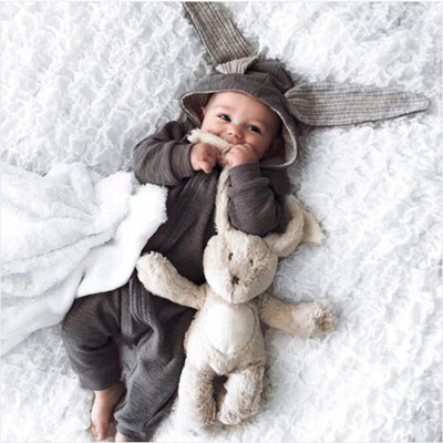 Baby Rompers Cute Cartoon Rabbit New Spring Autumn Infant Girl Boy Jumpers Kids Baby Outfits Clothes
