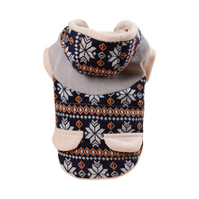 Christmas Small Dog Clothes Winter Warm Coat Deer Snow Soft Puppy Jackets Sweater Pet Clothing For Yorkshire Pug Outfits