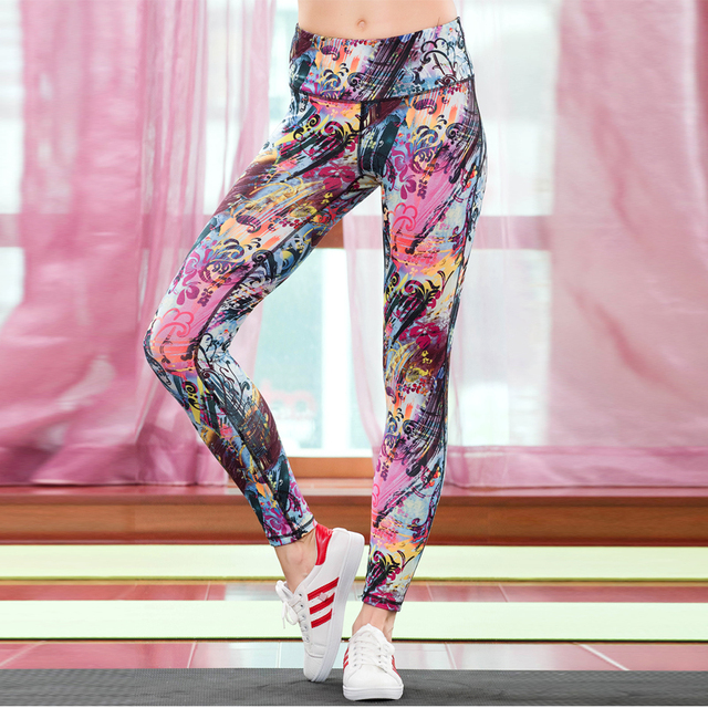 We only sell High quality New Fashion quick dry Note Women Breathable comfort pants Leggings Fitness pants ankle-length pants