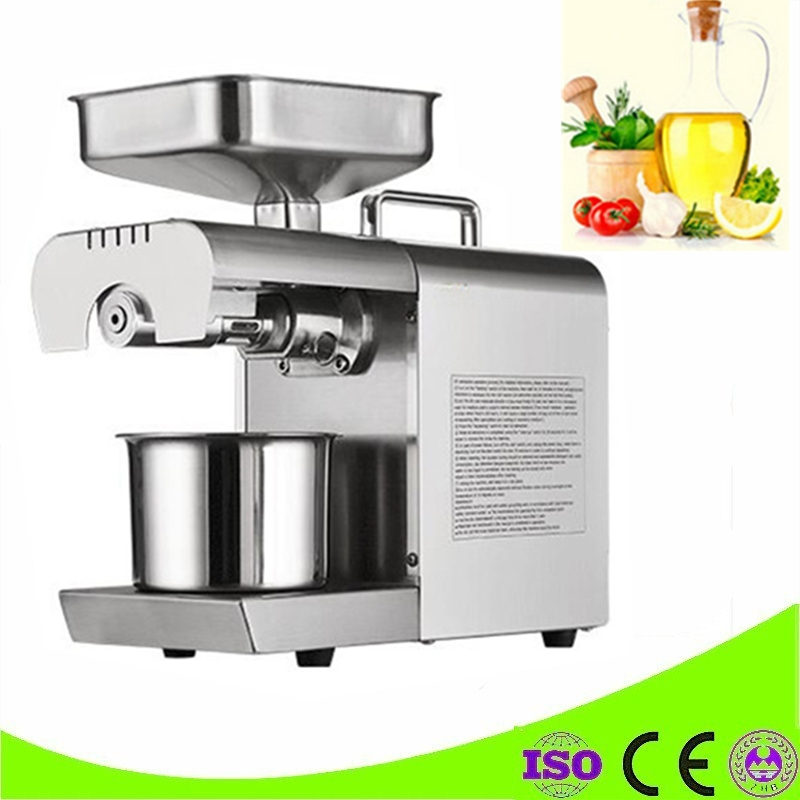 Commercial Grade Stainless Steel Coconut Oil Press Machine Nut Seed Automatic Seed Oil Extraction Machine home use 110v or 220v seed oil press machine nut seed automatic stainless all steel presser high oil extraction