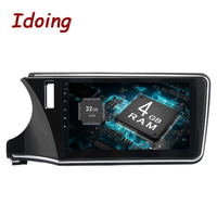 Idoing 10.2inch Android8.0/7.1 Steering Wheel For Honda CITY 2015 Car Multimedia Player 8Core Navigation No DVD HDMI Bluetooth