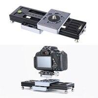 Camcorder 2 Way Track Rail System para Nikon Canon Sony DSLR Camera Phone Amortecimento Ajustável Deslizante Com 1/4 3/8 Parafuso interface Tripé monopé     -